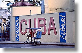 bicycles, caribbean, city scenes, cuba, havana, horizontal, island nation, islands, latin america, south america, taxis, photograph