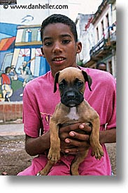 boys, caribbean, cats, cuba, dogs, havana, island nation, islands, latin america, puppies, south america, vertical, photograph