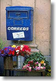 caribbean, cuba, flowers, havana, island nation, islands, latin america, mailboxes, south america, vertical, photograph