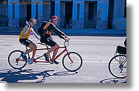 bicycles, caribbean, cuba, havana, horizontal, island nation, islands, latin america, mac queens, south america, tandem, photograph