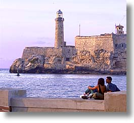 caribbean, cuba, havana, horizontal, island nation, islands, latin america, lighthouses, malecon, south america, photograph