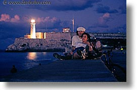 caribbean, cuba, havana, horizontal, island nation, islands, latin america, lighthouses, lovers, malecon, south america, photograph