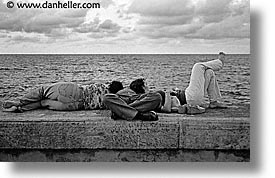 caribbean, cuba, havana, horizontal, island nation, islands, latin america, malecon, south america, threesome, photograph