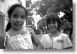 black and white, caribbean, childrens, cuba, friends, havana, horizontal, island nation, islands, latin america, people, south america, photograph