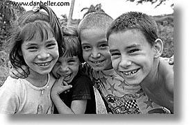 black and white, caribbean, childrens, cuba, havana, horizontal, huddle, island nation, islands, kid, latin america, people, south america, photograph