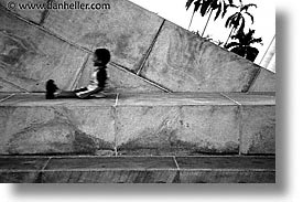 black and white, caribbean, childrens, cuba, havana, horizontal, island nation, islands, kid, latin america, people, sliding, south america, photograph