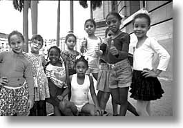 black and white, caribbean, childrens, cuba, havana, horizontal, island nation, islands, latin america, people, south america, photograph