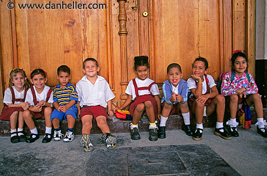 School kids caribbean childrens cuba havana horizontal images