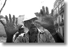 black and white, caribbean, cuba, havana, horizontal, island nation, islands, latin america, men, people, south america, photograph