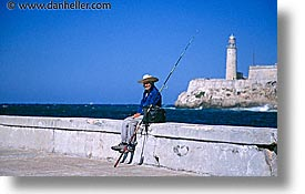 caribbean, cuba, fishermen, havana, horizontal, houses, island nation, islands, latin america, lights, men, people, south america, photograph
