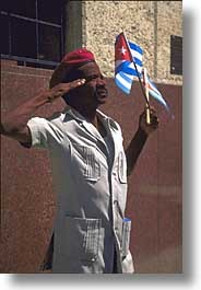 caribbean, cuba, havana, island nation, islands, latin america, men, people, salute, south america, vertical, photograph