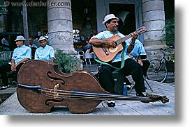 bass, caribbean, cuba, guitars, havana, horizontal, island nation, islands, latin america, men, people, upright, photograph
