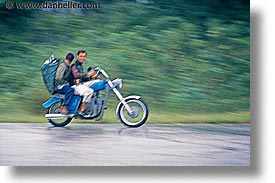 caribbean, cuba, havana, horizontal, island nation, islands, latin america, motorbike, people, south america, speeding, photograph