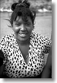 black and white, caribbean, cuba, havana, island nation, islands, latin america, people, south america, vertical, womens, photograph