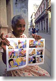 caribbean, comics, cuba, havana, island nation, islands, latin america, people, south america, vertical, womens, photograph