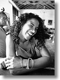 black and white, caribbean, cuba, giggles, havana, island nation, islands, latin america, people, south america, vertical, womens, photograph