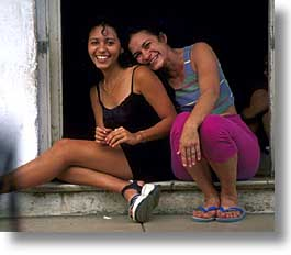 caribbean, cuba, havana, horizontal, island nation, islands, latin america, people, sisters, south america, womens, photograph