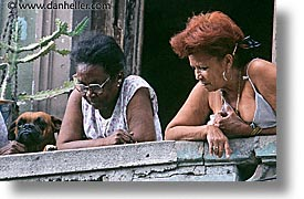 balconies, cant, caribbean, cuba, dogs, havana, horizontal, island nation, islands, latin america, people, see, south america, womens, photograph