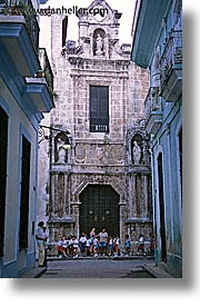 caribbean, churches, cuba, exteriors, havana, island nation, islands, latin america, plaza cathedral, south america, vertical, photograph