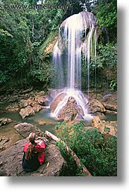 caribbean, cuba, island nation, islands, latin america, sierra del rosario, soroa, vertical, waterfalls, photograph