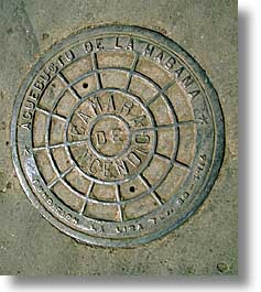 caribbean, cuba, havana, island nation, islands, latin america, manholes, south america, streets, vertical, photograph