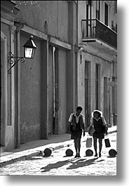 black and white, caribbean, cuba, havana, island nation, islands, latin america, south america, streets, vertical, photograph