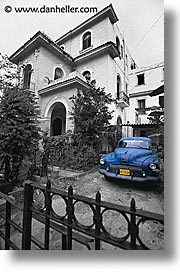 caribbean, cars, cuba, driveway, havana, island nation, islands, latin america, south america, vedado, vertical, photograph