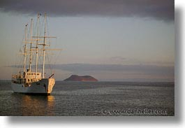 boats, ecuador, equator, eve, evening, galapagos, galapagos islands, heritage, horizontal, islands, latin america, ocean, pacific ocean, south pacific, water, photograph