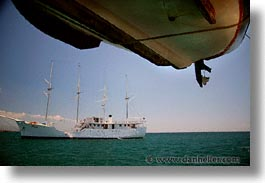 boats, ecuador, equator, galapagos, galapagos islands, heritage, horizontal, islands, latin america, ocean, pacific ocean, south pacific, under, water, photograph