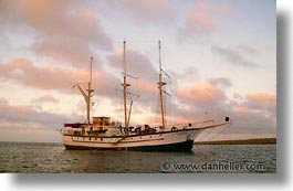 afloat, boats, ecuador, equator, galapagos, galapagos islands, horizontal, islands, latin america, ocean, pacific ocean, sagitta, sails down, south pacific, water, photograph