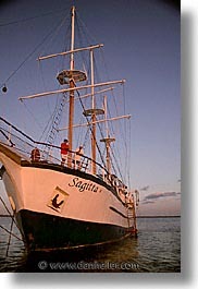 afloat, boats, ecuador, equator, galapagos, galapagos islands, islands, latin america, ocean, pacific ocean, sagitta, sails down, south pacific, vertical, water, photograph