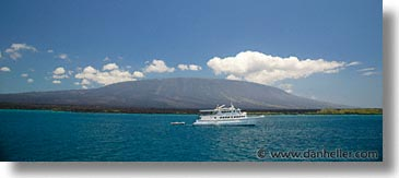 boats, ecuador, equator, galapagos, galapagos islands, horizontal, islands, latin america, ocean, pacific ocean, panoramic, reina, silvia, south pacific, water, photograph