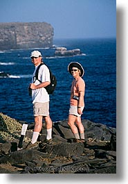 bob, bob linda, ecuador, equator, galapagos, galapagos islands, islands, latin america, lindas, pacific ocean, people, south pacific, vertical, photograph