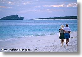 beaches, dusk, ecuador, equator, galapagos, galapagos islands, horizontal, islands, latin america, pacific ocean, people, south pacific, walk, photograph
