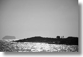 black and white, ecuador, equator, galapagos, galapagos islands, horizontal, islands, latin america, pacific ocean, people, scenics, shoreline, south pacific, photograph