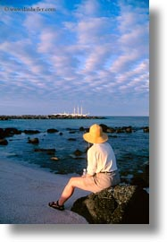 dusk, ecuador, equator, espanola, galapagos islands, latin america, vertical, womens, photograph