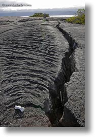 cracks, ecuador, equator, fernandina, galapagos islands, latin america, lava, vertical, photograph
