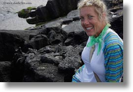 cindy, ecuador, equator, galapagos islands, groups, horizontal, latin america, natural habitat, people, smiling, tourists, womens, photograph