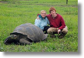 ecuador, equator, families, galapagos islands, groups, horizontal, latin america, natural habitat, people, tortoises, tourists, womens, photograph
