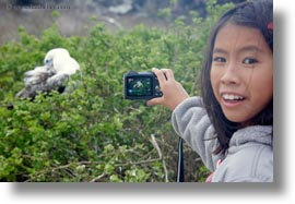ashley, birds, childrens, ecuador, equator, galapagos islands, horizontal, latin america, natural habitat, people, photographing, photograph