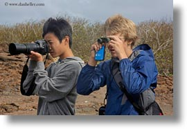 childrens, ecuador, equator, galapagos islands, horizontal, latin america, natural habitat, people, viewing, wildlife, photograph