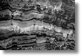 artful, black and white, cliffs, ecuador, equator, galapagos islands, horizontal, latin america, layers, rocks, santa cruz, photograph