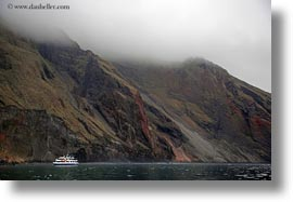 boats, cliffs, ecuador, equator, galapagos islands, horizontal, latin america, santa cruz, photograph