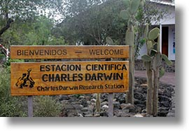 center, darwin center, darwins, ecuador, equator, galapagos islands, horizontal, latin america, santa cruz, signs, photograph