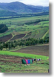 ecuador, equator, fields, highlands, latin america, laundry, vertical, photograph