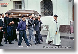 casket, ecuador, equator, horizontal, latin america, people, procession, photograph