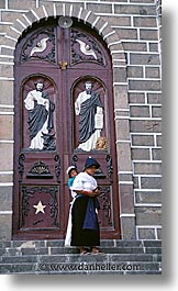 churches, doors, ecuador, equator, latin america, people, vertical, photograph