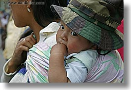 childrens, clothes, colors, ecuador, equator, green, hats, horizontal, latin america, quito, toddlers, photograph