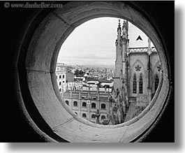 black and white, buildings, churches, ecuador, equator, holes, horizontal, latin america, quito, religious, structures, views, photograph