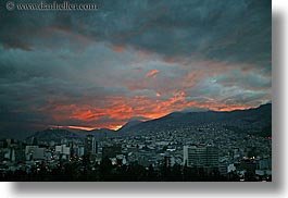 cityscapes, clouds, ecuador, equator, horizontal, latin america, nature, quito, sky, sunsets, photograph